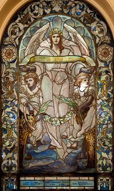 Tiffany Glass Window, Upper level, Arlington Street Church, Boston