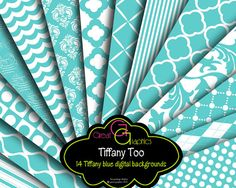 Tiffany Blue Paper Tiffany Printables Tiffany by GreatGraphics, $6.00