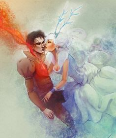 The Snow Queen and her lover by Alicechan.deviantart.com on @deviantART // looks a bit like Fiyeraba, don't it? ;)