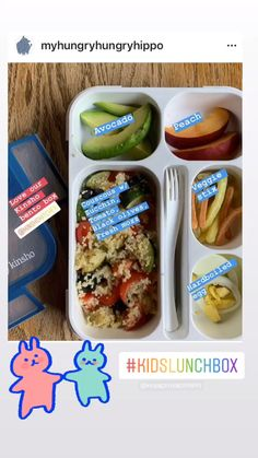 Loads of colors to fit healthy tasty lunches. Best Kids Lunch Box, Cold Lunch Ideas For Work, Kids Lunch Menu, Best Bento Box, Kids Packed Lunch, Healthy Packed Lunches, Easy Lunch Boxes, Healthy School Lunches, Bento Box Lunch