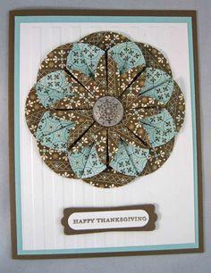 Dahlia Fold Thanksgiving Card