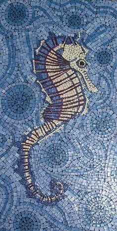 Seahorse paper mosaic