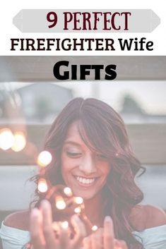 9 Perfect Firefighter Wife Gifts for this holiday season! Firefighter Training, Firefighter Family, Firefighter Decor, Fundraising Events, Fundraising Ideas, School Staff, Sunday School, Hot Firefighters, Perfect Wife