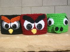 Angry birds coffee cozy!