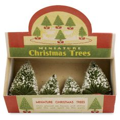 Vintage Box of Trees from TheHolidayBarn.com