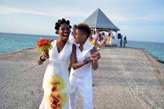 Jamaica's First Lesbian Wedding Ever In History Is Adorable, Deeply Moving  #lesbian