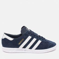 superior quality 3f545 e5839 adidas Originals Hamburg Collegiate Sneakers NavyRunning WhiteGold