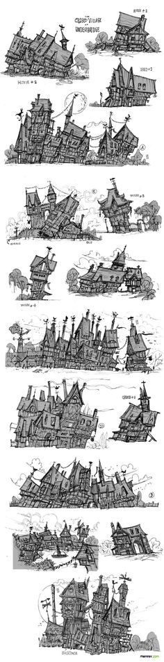 Crooked and crazy houses and structures