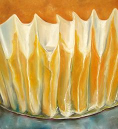 "Original Oil Painting ""Yellow Cupcake"""