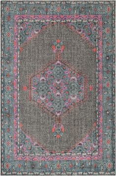 The worn, vintage look of this rug has me swooning. We love its versatility - perfect for a glamour girl's bedroom, boho living space, or a vintage eclectic den.