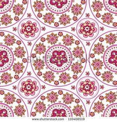 Floral seamless pattern. Indian ornament,  floral pattern, mandala. ethnic pattern. range, circle, round, disk.Vintage invitation card.Template frame design for card