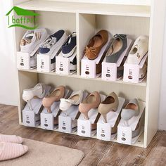 Home & Garden Frugal 8pcs Home Use Shoe Organizer Modern Double Cleaning Storage Shoe Rack Living Room Convenient Shoebox Shoes Organizer Stand She Removing Obstruction Shoe Racks & Organizers