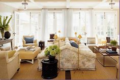 Have I mentioned how much I love, Love, LOVE a doublesided sofa!?!    Jeffrey Bilhuber is so haute...