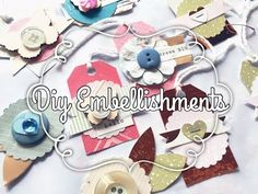 DIY embellishments using Buttons & Paper Punches!! ✂️ - YouTube