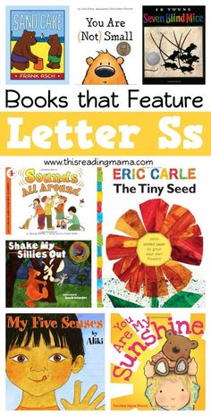 Books for the Letter S plus links to FREE printable Letter S Packs! | This Reading Mama