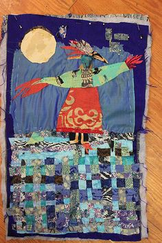 "Dee Mallon - ""bird-woman-with-moon"" (WIP)"