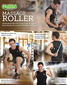 Amazon.com: Gurin Massage Roller with Magnet - 22.8 inches (Treats muscle pain, knots and trigger points, Sports injuries, muscle massage, increase strength): Health & Personal Care Massage Roller, Trigger Points, Muscle Pain, Injury Prevention, Flexibility, Knots, Strength, Personal Care, Treats