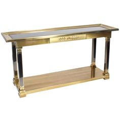 Mastercraft Console Table | From a unique collection of antique and modern console tables at http://www.1stdibs.com/furniture/tables/console-tables/