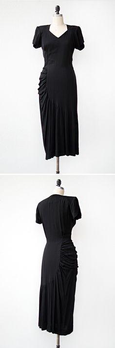 vintage 1940s dress | Femme Fatale Dress