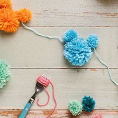 Celebrate your love of the most famous mouse around with this decorative garland. Make a Mickey Mouse inspired pom pom garland and use to add a little cheer to any celebration or why not add some Disney flair to your child's bedroom?