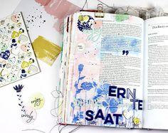 """Bible Art Journaling zum Thema """"Erntezeit"""" aus Galater 6 Vers 9 ©bibleartjournaling.de"""