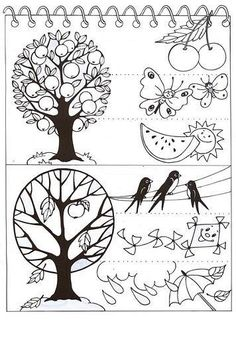 Anotimpuri Science Art, Science For Kids, Science And Nature, Leaf Coloring, Coloring Sheets, Coloring Pages, Seasons Of The Year, Four Seasons, Weather For Kids