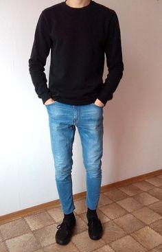 Gildan Men's Ultra Cotton Adult Long Sleeve T-Shirt, Black Vans Outfit, Vans Outfit Men, Stylish Mens Outfits, Casual Outfits, Men Casual, Vans Authentic Black, Men's Fashion, Fashion Outfits, Skinny Fit Jeans