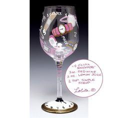 Lolita Wine Glass - 5 O'Clock Somewhere - $24.99