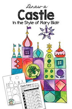 Castle Design in the Style of Mary Blair Art Lessons For Kids, Art Lessons Elementary, Art For Kids, Kalif Storch, Castle Drawing, Mary Blair, Disney Artists, Arts Ed, Art Classroom