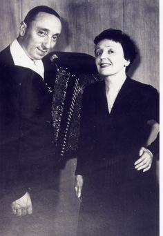 Edith Piaf and her accordeonist Marc Bonel