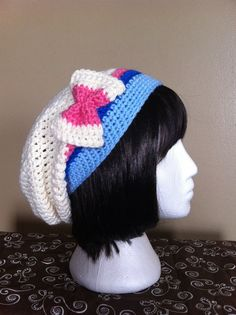 Pokemon Sylveon Inspired Slouchy Hat by ShopOfManyThings on Etsy, $20.00