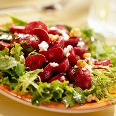 Boost the nutty flavor by toasting walnuts in the oven until golden for this colorful vegetable salad. Try it if you are on a diabetic diet.
