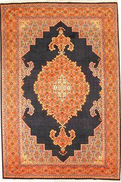 ..orange Persian rug