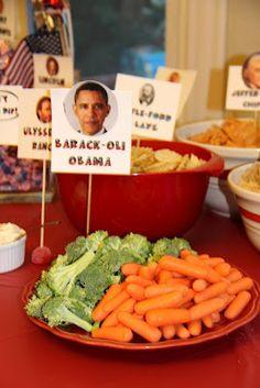 Presidents Day food- I love the Barack-oli Obama and Calvin Kool-Aid!