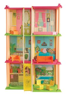 In 1974 Barbie moved into a three-story Dreamhouse that included a 'working' elevator and is considered to be one of the most iconic houses. Description from dailymail.co.uk. I searched for this on bing.com/images