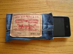 Upcycle that old pair of jeans into a gadget case.