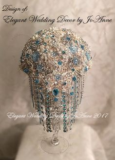 Custom CRYSTAL BROOCH BOUQUET All Brooch by Elegantweddingdecor