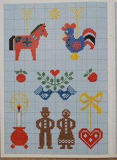 cross-stitch for Christmas by dutch blue, via Flickr