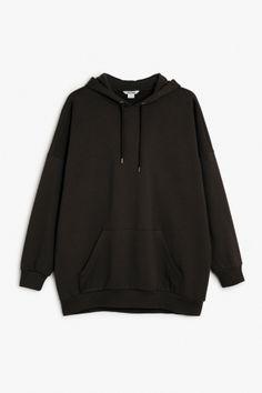 Monki Image 2 of Oversize hoodie  in Black
