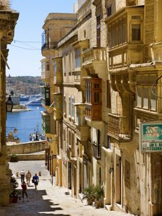 Street in Valletta Photographic Print, Malta  Walked these streets every day for class :-)