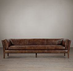 8' Sorensen Leather Sofa