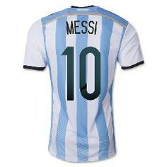 05976a0e5 Top A+++ 2014 World Cup Argentina Home Messi KUN AGUERO soccer jersey Grade  Original thai quality football jersey soccer shirt-in Sports Je.