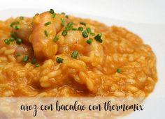 Arroz con bacalao en la Thermomix Food N, Couscous, Risotto, Quinoa, Cooking, Ethnic Recipes, Robot, Arrows, Healthy Recipes
