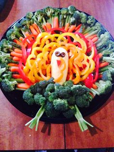 Another version of the turkey veggie tray.