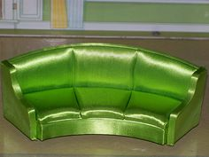 My Beautiful Petite Princess Lime Green Sofa!
