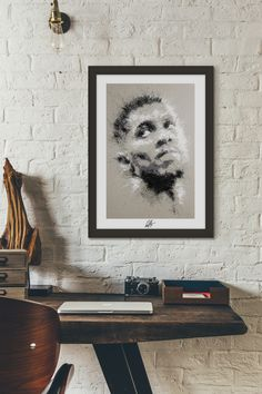 Giclée print of original Acrylic on Canvas (Anthony Joshua) - Signed by Kieran Brooks. Printed by a Hahnemühle certified print studio on 285gsm textured/Matt Etching paperPrinted Ideal for...