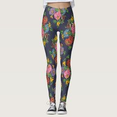 Hungarian floral pattern no3 leggings