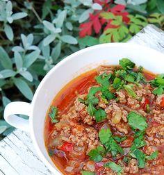 Будний соус из баклажанов и мясного фарша