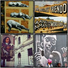 Take to the streets of Joburg and explore the vibrant & evolving street art & graffiti scene. An outdoor gallery in the city ~ A giant canvas! I LOVE JOZI!!!!