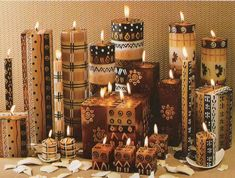 African candles/pattern for totems??                                                                                                                                                                                 More